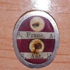 Antiques: RELIQUIARIO CON RELIQUIAS DE SAN FRANCISCO DE ASIS Y SAN ANTONIO DE PADUA. Lote 152490918