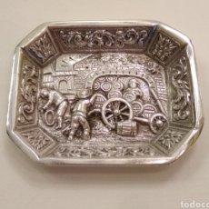Antigüedades: BANDEJA DE PLATA MINIATURA. Lote 152516386