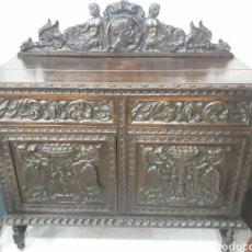 Antigüedades: APARADOR ANTIGUO TALLADA ESTILO ESPAÑOL.. Lote 152527510