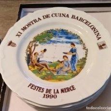 Antigüedades: PLATOS FESTIVIDAD MERCÈ. Lote 152542050