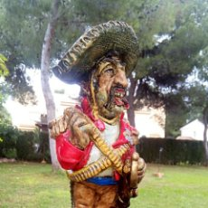 Antigüedades: ANTIGUA FIGURA EN TERRACOTA. EMILIANO ZAPATA GENERAL MEJICANO. MANISES. VINTAGE.. Lote 152547190