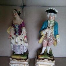 Antigüedades: * PAREJA DE PORCELANAS. VIEJO PARIS. (RF:B/H*). Lote 152550498