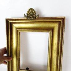 Antigüedades: PRECIOSO EMBELLECEDRO COPETE CONCHA BARROCA EN BRONCE PARA MARCO ESPEJO CUADRO. Lote 152552578