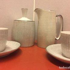 Antigüedades: ESPECTACULAR Y RARISIMO JUEGO DE CAFE DAE LIMOGES, TU Y YO, 6 PIEZAS, VINTAGE 100%. Lote 152556026
