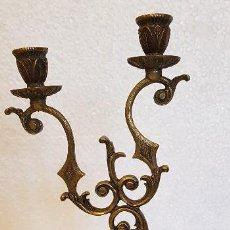 Antigüedades: CANDELABRO BRONCE 32 CM. Lote 152562810