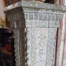 Antigüedades: COLUMNA DE MARMOL TALLADA A MANO. Lote 152569222