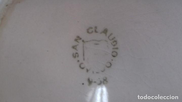 Antigüedades: PAREJA DE MUY ANTIGUOS TAZONES GRANDES. DE SAN CLAUDIO. NUMERADOS. - Foto 8 - 152576190