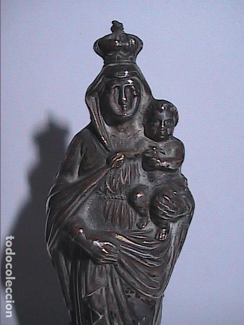 Antigüedades: EXCELENTE VIRGEN DEL PILAR EN PLATA. FINALES S.XIX. - Foto 3 - 152577142