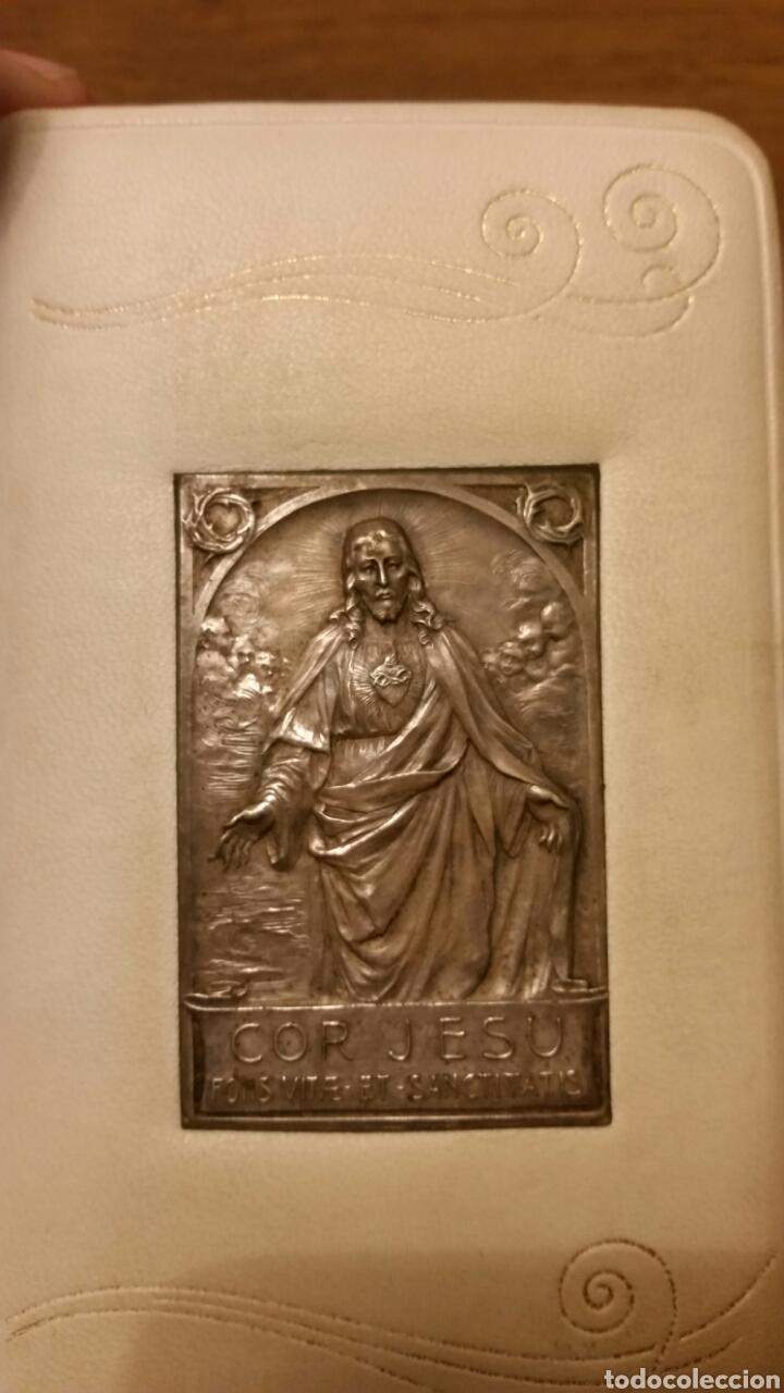 Antigüedades: Misal en piel y plata. Llave del paraiso - Foto 5 - 152578786