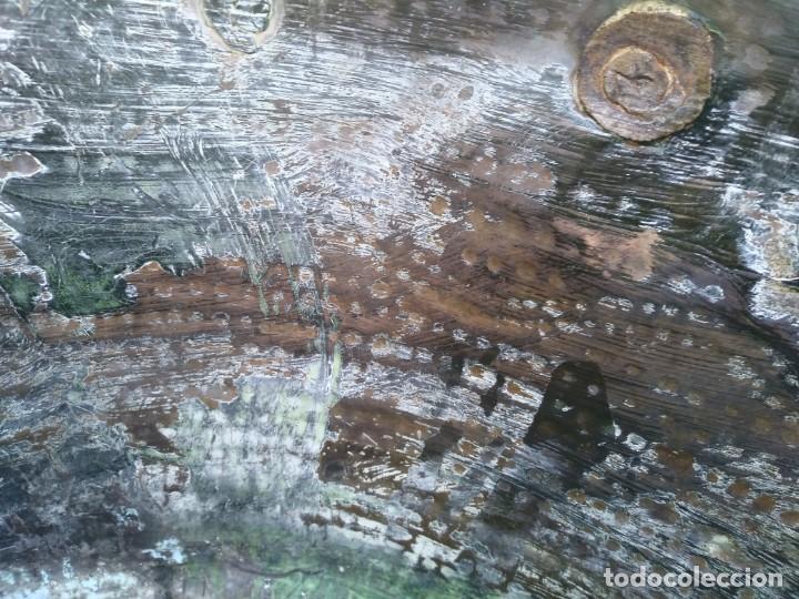 Antigüedades: Antiguo BARREÑO de COBRE GRANDE CALDERA Granadino cincelado - Foto 9 - 152582094