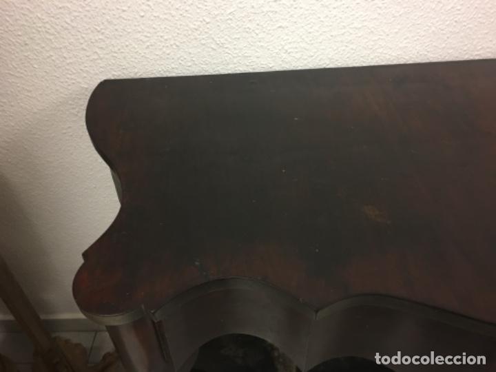Antigüedades: Antigua Consola en caoba es original 57x119x97 - Foto 5 - 152618002