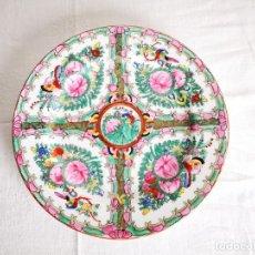 Antigüedades: PLATO PORCELANA CHINA. MACAO. MEDIADOS S XX. Lote 152620990