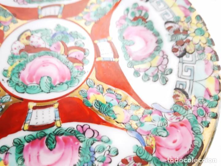 Antigüedades: PLATO PORCELANA CHINA. MACAO. MEDIADOS S XX - Foto 4 - 152621270