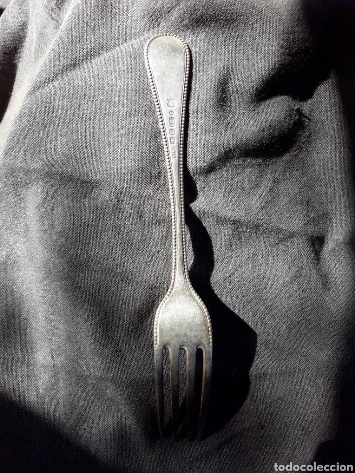 Antigüedades: Tenedor EP corona - Foto 2 - 152633110