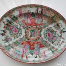 Antigüedades: PLATO OVALADO CHINO EN PORCELANA.. Lote 152635510
