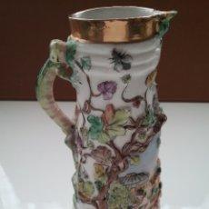 Antigüedades: JARRA EN PORCELANA ESTILO CAPODIMONTE.. Lote 152641772
