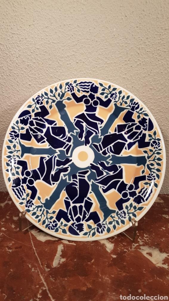 PLATO DE PORCELANA SARGADELOS SERIE LIMITADA 300 UNIDADES. (Antigüedades - Porcelanas y Cerámicas - Sargadelos)