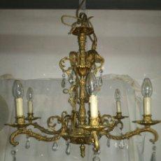 Antigüedades: ANTIGUA LAMPARA DE BRONCE. Lote 152654701