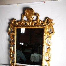 Antigüedades: ESPEJO MARCO TALLADO EN MADERA MEDIDAS 90X70. SIGLO XIX.. Lote 152662934