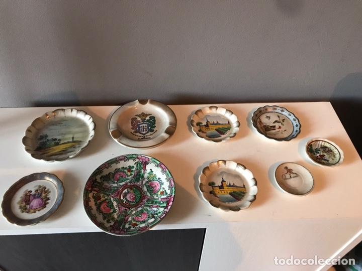 LOTE DE PLATOS ANTIGUOS DECORATIVOS (Antigüedades - Porcelanas y Cerámicas - Otras)