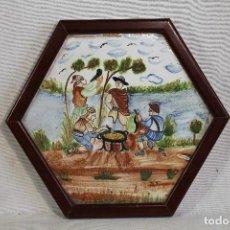Antigüedades - azulejo valenciano exagonal - 152716622