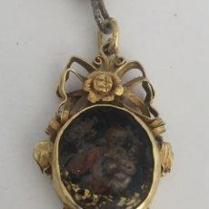Antigüedades: RELICARIO ISABELINO DE ORO 18 KTS. Lote 152750218