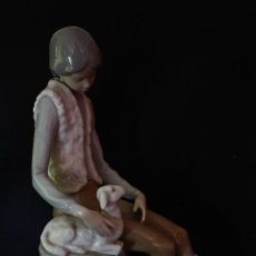 Antigüedades: FIGURA PASTOR PORCELANA NAO DE LLADRO. Lote 152756894