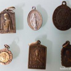 Antigüedades: LOTE MEDALLAS RELIGIOSAS. Lote 152790098