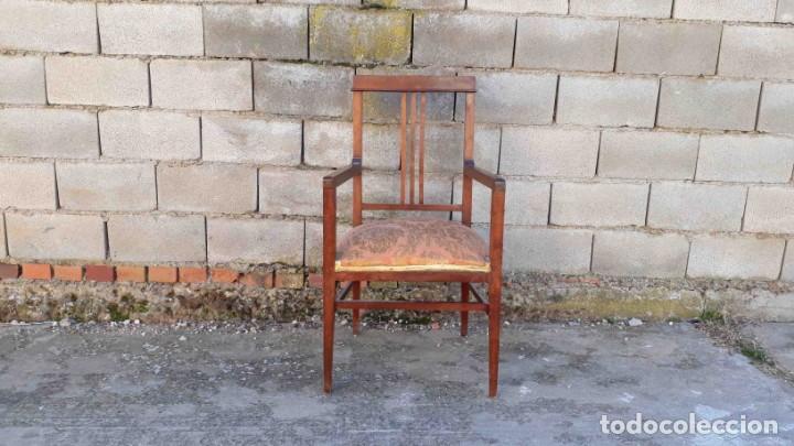 Antigüedades: Pareja de sillones antiguos estilo art decó. Dos sillas butacas antiguas estilo modernista. - Foto 3 - 152813742