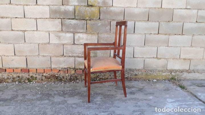 Antigüedades: Pareja de sillones antiguos estilo art decó. Dos sillas butacas antiguas estilo modernista. - Foto 4 - 152813742