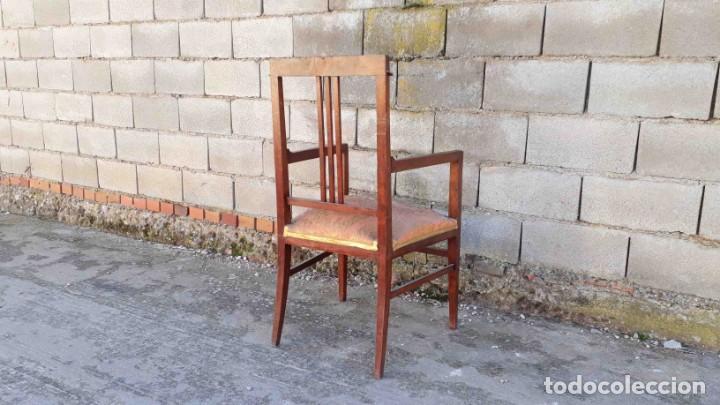 Antigüedades: Pareja de sillones antiguos estilo art decó. Dos sillas butacas antiguas estilo modernista. - Foto 5 - 152813742