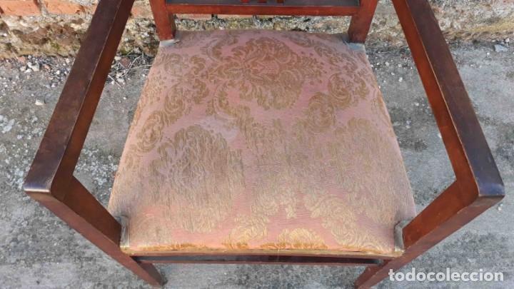 Antigüedades: Pareja de sillones antiguos estilo art decó. Dos sillas butacas antiguas estilo modernista. - Foto 6 - 152813742