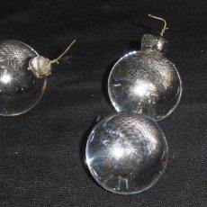 Antigüedades: 6 LAGRIMAS PARA LAMPARA, BOLAS DE CRISTAL PARA LAMPARA. Lote 152819802
