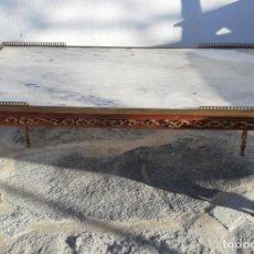 Antigüedades: MESA DE BRONCE Y MARMOL. Lote 152846470