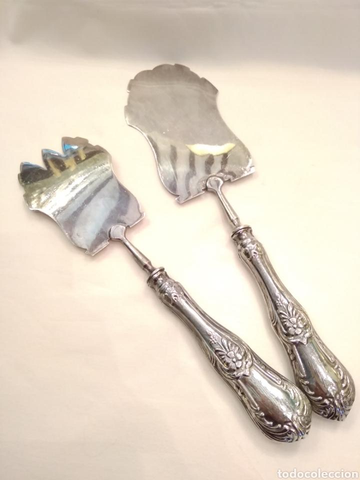 Antigüedades: Cubiertos de servir plata de ley - Foto 3 - 152865281