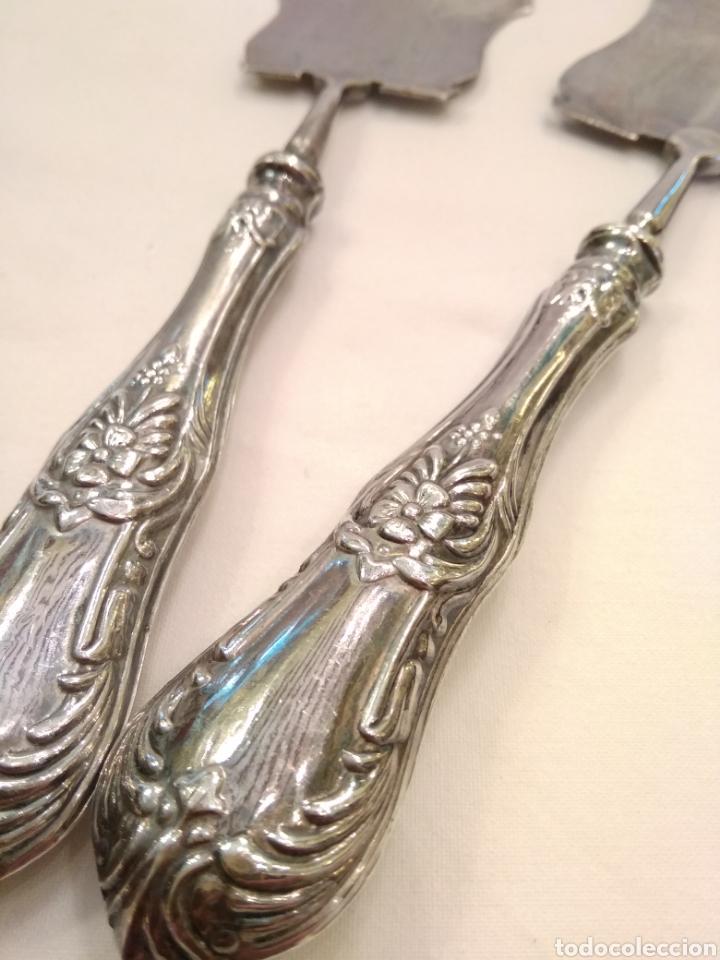 Antigüedades: Cubiertos de servir plata de ley - Foto 5 - 152865281