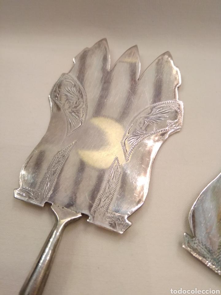 Antigüedades: Cubiertos de servir plata de ley - Foto 6 - 152865281