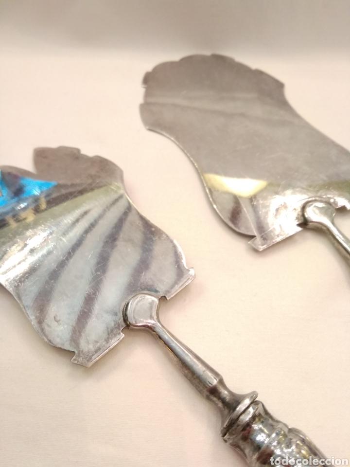 Antigüedades: Cubiertos de servir plata de ley - Foto 7 - 152865281