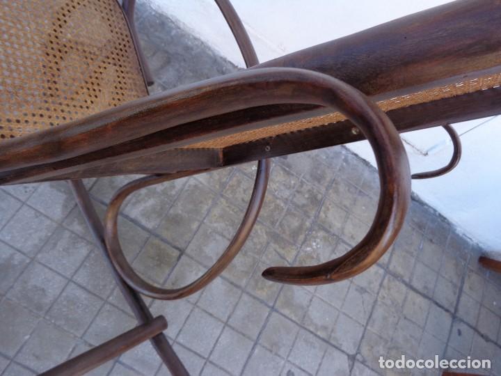 Antigüedades: MUY ANTIGUA PRINCIPIOS 1900 BONITA E IMPORTANTE MECEDORA THONET COMPLETA Y EN BUEN ESTADO - Foto 7 - 152883802