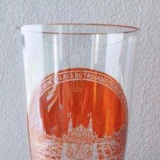 Antigüedades: VASO DE CRISTAL GRABADO AL ÁCIDO. Lote 152894150