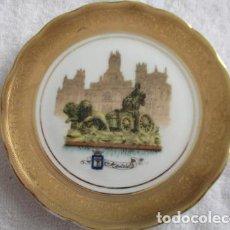 Antigüedades: PEQUEÑO PLATO,ORO DE LEY DE PORCELANA. MADRID. 12,5 CM. Lote 152900698
