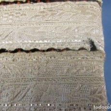 Antigüedades: ANTIGUO GALÓN METÁLICO DE CASULLA S. XIX-XX EN COLOR PLATA EN TRES TRAMOS. Lote 152904042