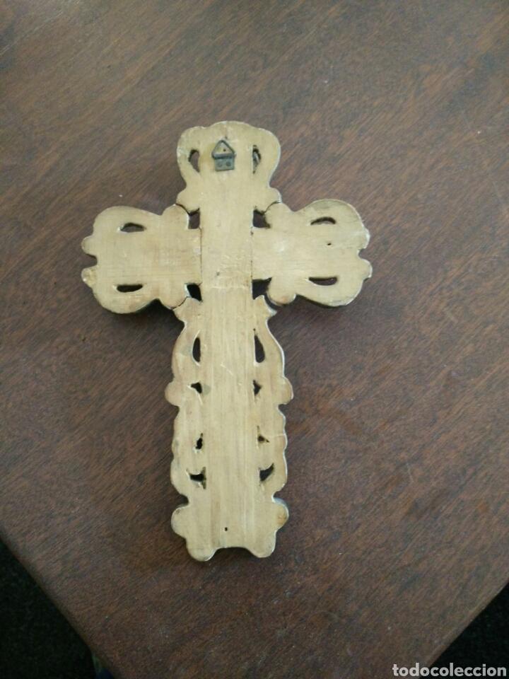 Antigüedades: Cruz policromada - Foto 4 - 152907416