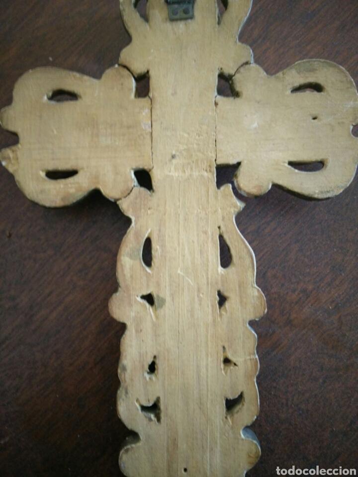 Antigüedades: Cruz policromada - Foto 5 - 152907416