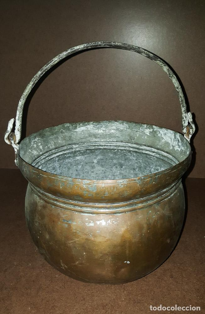 CALDERA DE COBRE (Antigüedades - Técnicas - Rústicas - Utensilios del Hogar)