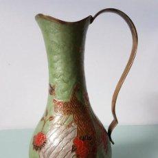 Antigüedades: JARRÓN BRONCE ESMALTADO ( AÑOS 70 ). Lote 152927938