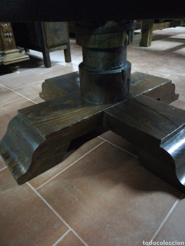 Antigüedades: Mesa rueda carro - Foto 4 - 152933072