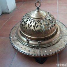 Antigüedades: ANTIGUO BRASERO DE LATÓN. Lote 152959630