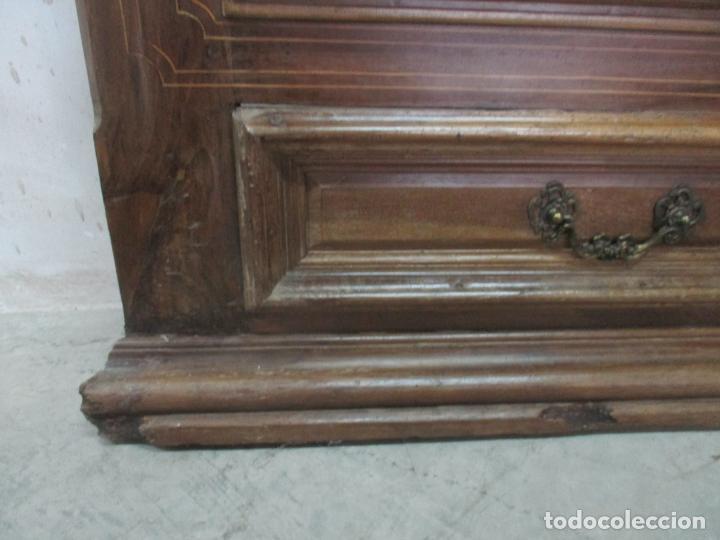 Antigüedades: Antiguo Armario Catalán, Barroco - Armario Empotrado - Puertas y Marco - Madera Nogal - Año 1768 - Foto 4 - 153012338