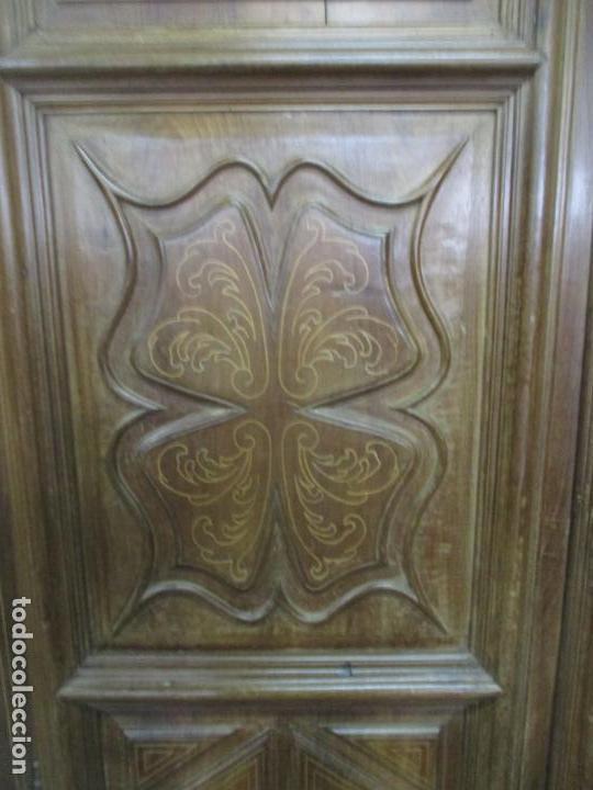 Antigüedades: Antiguo Armario Catalán, Barroco - Armario Empotrado - Puertas y Marco - Madera Nogal - Año 1768 - Foto 11 - 153012338